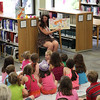 "When Cherry Queen Meg walked in to read ""Moose on the Loose"" 20 little girls gasped in awe."