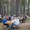 "Picnickers ""under the pines"" at the 59th Annual NMC BBQ"