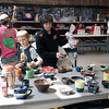Checking out the wares at the annual BBQ pottery sale