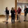 Dennos Museum Center patrons discuss works by Seungmo Park.