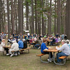 Picnickers at the 59th Annual NMC BBQ under the pines