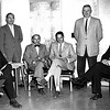 1959 - (from left to right) Board of Trustees Bill Milliken, Andy Olson, Mark Osterlin, Jack Votey, Julius Sleder, and Les Biederman