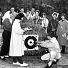 1959 - Bernie Rink (far right), archery advisor