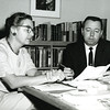 1960s - NMC Osterlin Library Librarians Rebecca Mericle and Bernard Rink