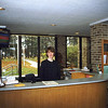 1999 - Elizabeth Stevens at the first Welcome Center in the Tanis building