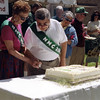 2001 - Cutting the 50th Anniversary cake