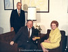 NMC Fellow, 1989:  Admiral Willard Smith (far left), with Jim Davis (1970-72 NMC President), and Helen Osterlin