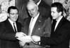 NMC Fellows:  (Left to Right) Robert Griffin, 1973; Arnell Engstrom, 1964; William Milliken, 1965