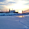 Sunset on West Bay in front of the Great Lakes Campus February 18, 2014