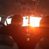 Inside the cockpit.