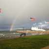 1st Place - A rainbow splashes into West Bay off the port bow of the State of Michigan