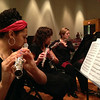 Flutists at the NMC Concert Band concert, April 29, 2014